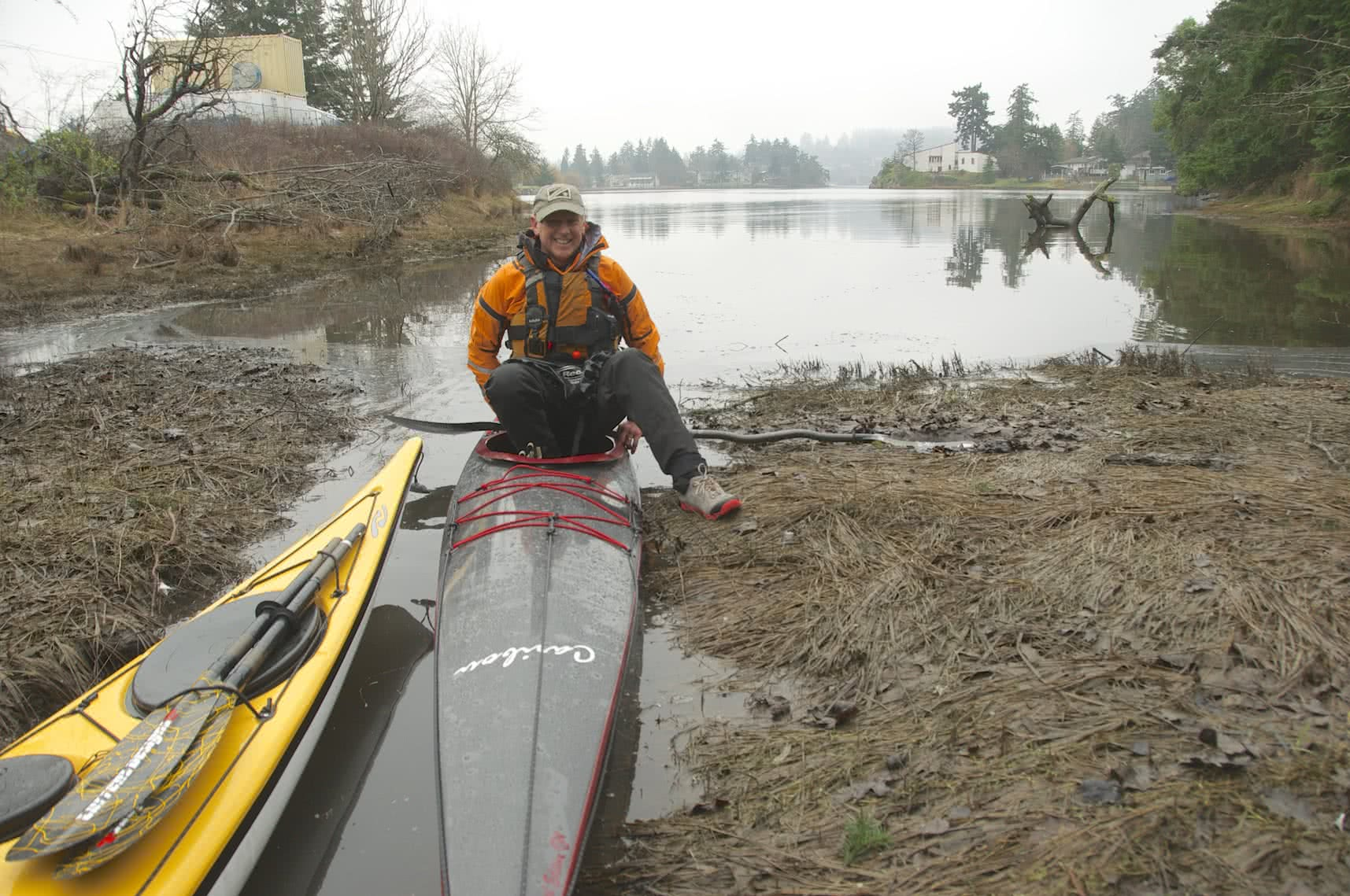 Victoria circle paddle route ocean river high tide exit at the portage nvjuhfo Images