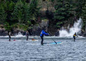 SUP tour around Saturna Island