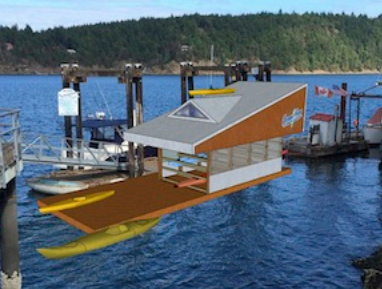 Saturna Island Paddle Shack proposal