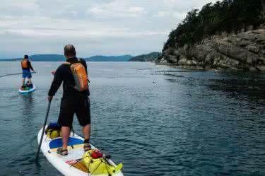 SUP circumnavigation of Saturna Island