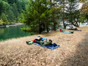 camping on Saturna Isand