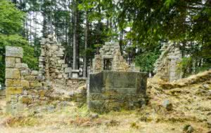 old stone trading post on Saturna Island