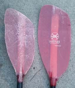 white water kayaking paddle