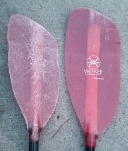 white water kayaking paddle