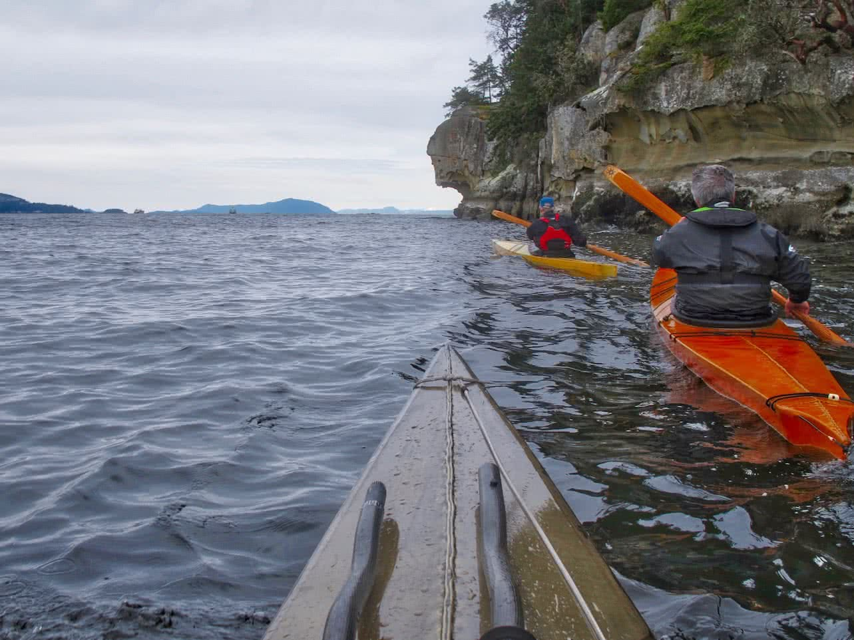 Traditional Kayaks off Gabriola Island