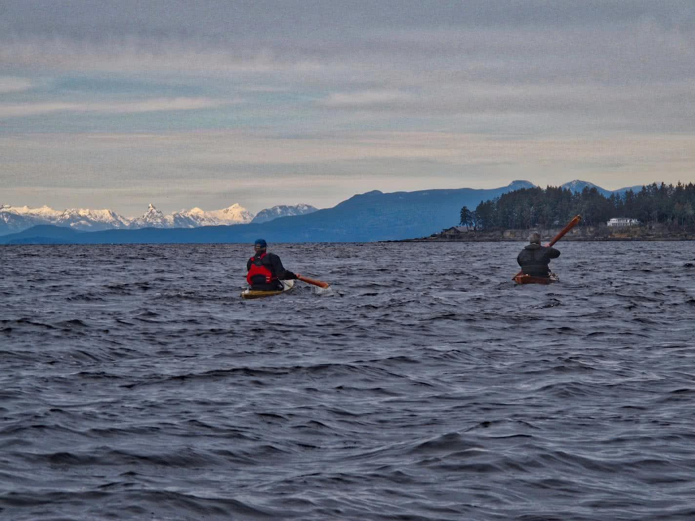 tradiional kayaking Gabriola