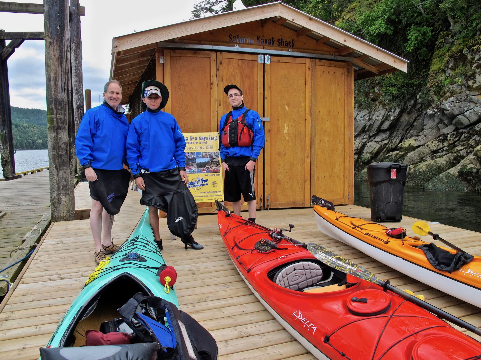 The Saturna Kayak Shack