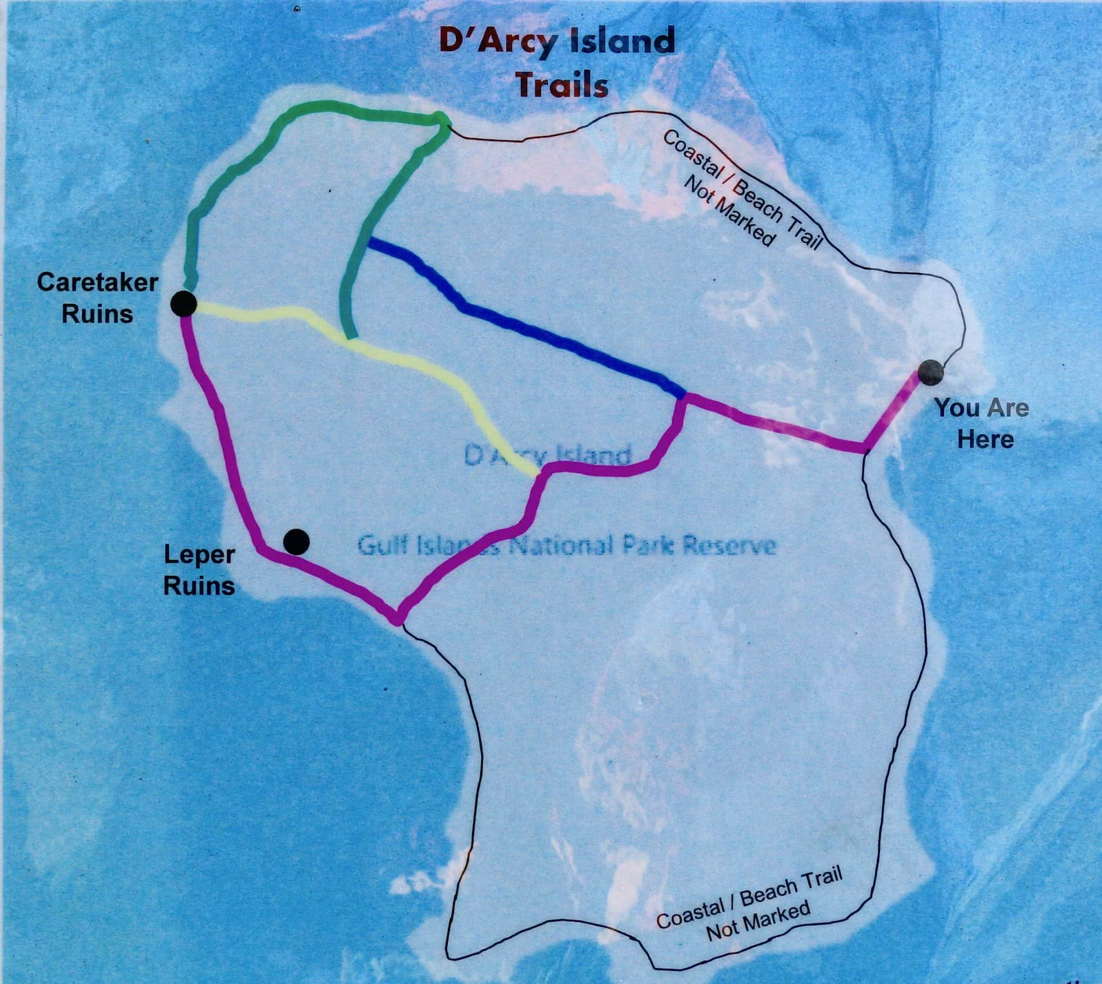 D'Arcy Island Trail map