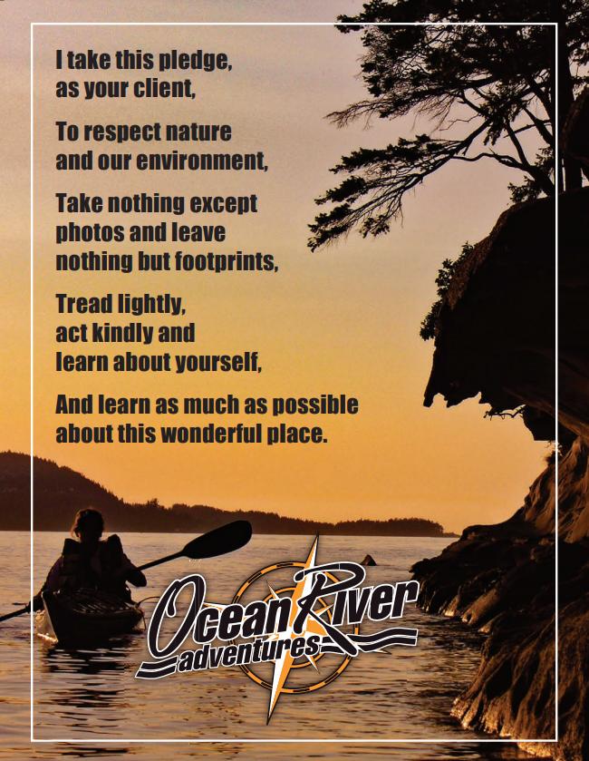 Ocean River Pledge for clients
