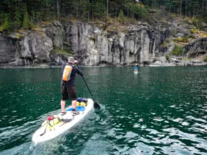 Paddle boarding around the southern Gulf Islands
