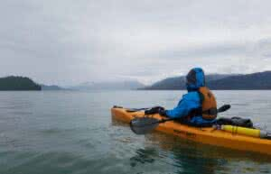 kayaking out into the open ocean