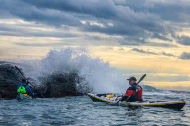 Rough water and tidal paddling with Gordon Brown
