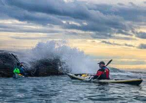 Rough water and tidal paddling with Gordon Brown @ McNeill Bay (Trial Island)