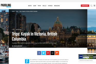 Paddling Magazine Article – Kayaking in Victoria BC